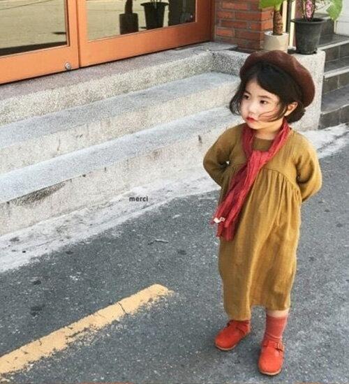 SALE【MOM有】シンプル・ロング・ワンピース・90cm・100cm・110cm・120cm・130cm・親子ペアルック・ママとお揃い・マタニティー・韓国 子供服 ・cocostyle