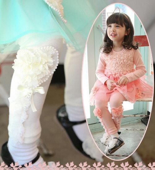 最後1点SALE・花柄モチーフとレースがポイント♪レース9分レギンス・90cm・100cm・110cm・120cm・130cm・140cm・韓国 子供服 ・cocostyle