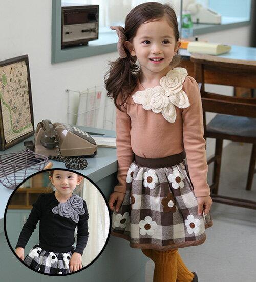TIMESALE・モチーフが大人っぽい♪フォーマルにもお出かけにもぴったりな長袖Tシャツ◎90cm・100cm・110cm・120cm・130cm・韓国 子供服 ・cocostyle