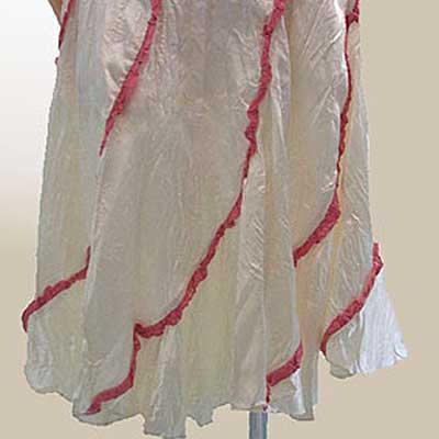 ベッツィージョンソン(BETSEY JOHNSON) スカート サテン調ピンクレーススカート BE-0057