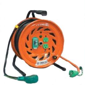 日動工業:極太(3.5mm2)電線仕様ドラム びっくリール(延長コード型ドラム) RND-EB30SF 工場 現場 作業 電設 延長