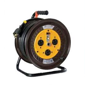 日動工業:三相200Vロック(引掛)式ドラム アース付(外カギ) 30m ND-E330L-20A