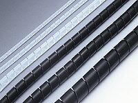 十川産業:サンスパイラルチューブ黒 25m SSPT-2024