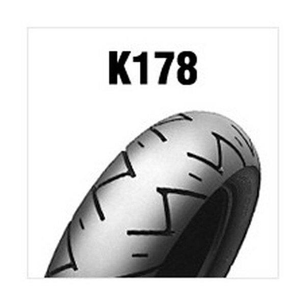 【後払い不可】DUNLOP(ダンロップ) :K178 (FRONT REAR) 100 90-12 49J TL 267293