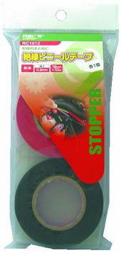 FUJIX(フジックス):絶縁ビニールテープ 赤 黒 RC1012
