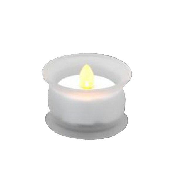 【代引不可】YSD:やよい灯立付電子ローソクセット (仏具ホワイト色) 4GE46A10