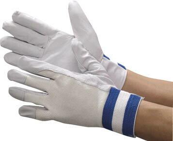 シモン 豚革手袋 甲メリヤス袖口ゴムタック式 126豚白 LL寸(1双) 126PIGLL 3085945