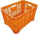 安全興業:2.0kg 採集コンテナ 平底  オレンジ  (6個入) SAI-O-2