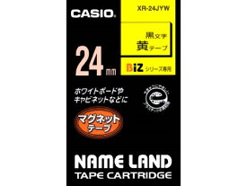 カシオ計算機(CASIO):ネームランド(テープカートリッジ)マグネットテープ XR-24JYW
