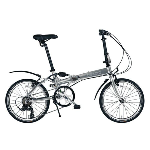 【後払い不可】【代引不可】【ポイント10倍】DEFACTO(デファクト):DZ-20 軽量フルアルミ仕様 20インチ折畳自転車 [シマノ 7段変速/リンクサスペンション搭載] DFDZ20/GP