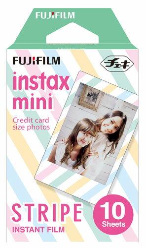 【後払い不可】【ポイント20倍】富士フイルム:チェキフィルム instax mini film STRIPE instax-f-stri
