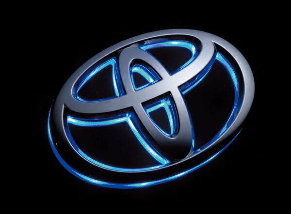 【後払い不可】【代引不可】【ポイント10倍】VALENTI(ヴァレンティ) LEDオーナメントベース トヨタエンブレム ブルー トヨタ車専用 LOB-TY02B