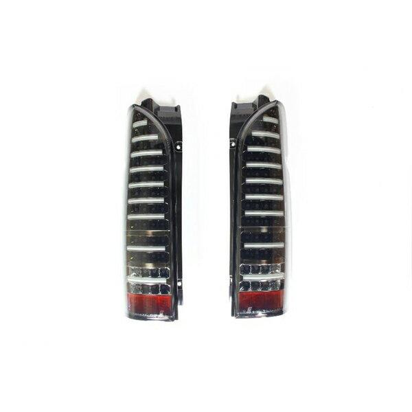 【代引不可】VALENTI(ヴァレンティ) LEDテールランプ 88LED+20LEDBAR ライトスモーク/ブラッククローム ハイエース/レジアスエース 年式H16.8- 型式:KDH・TRH2## TT200
