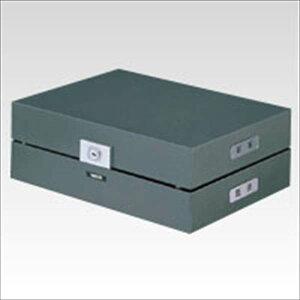 ナカバヤシ:決裁箱 スチール製鍵付 メタリックグレー A4K-1 05155