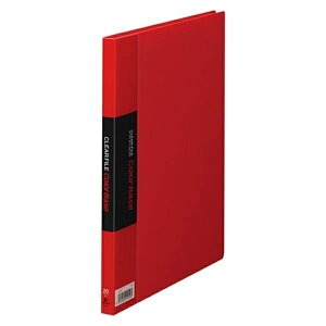 キングジム:クリアーファイル・カラーベース ポケット溶着式 B5判タテ型 赤 122Cアカ 10742
