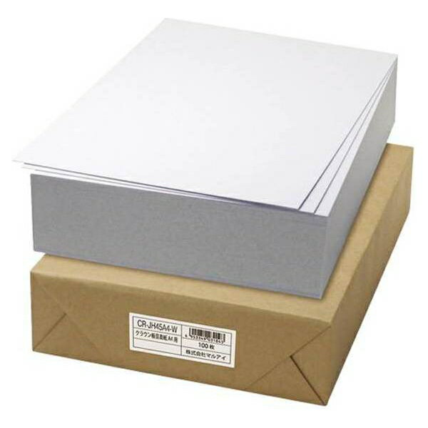 クラウン:板目表紙 100枚 A4判 CR-JH45A4-W 15560