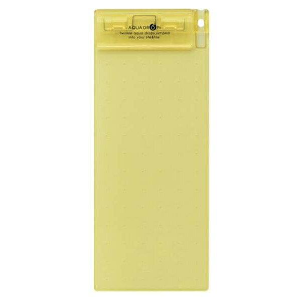 リヒトラブ:AQUA DROPs 超薄型クリップボード 伝票サイズ(200×88) 黄 A-5060-5 24109