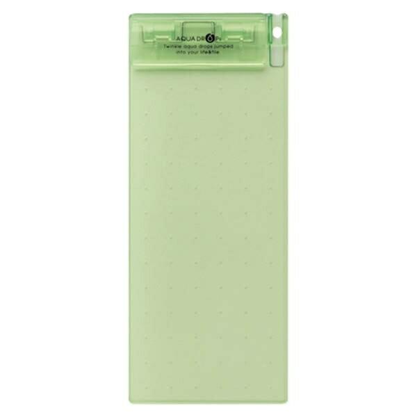 リヒトラブ:AQUA DROPs 超薄型クリップボード 伝票サイズ(200×88) 黄緑 A-5060-6 24110