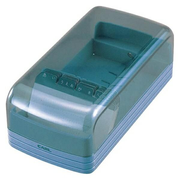 カール:名刺整理箱 ブルー 容枚数:600枚 No.860E-B 32707