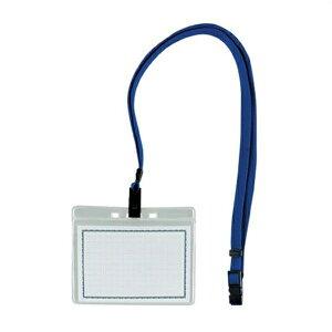 西敬:マイティループエコノミー名札 名刺型・大 1枚入 青 MLE-331 B 64398