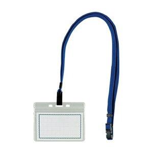 西敬:マイティループエコノミー名札 名刺型 1枚入 青 MLE-332 B 64404