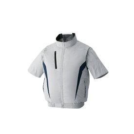 アタックベース:空調風神服裏チタン半袖ブルゾン シルバーL 100 空調服 半袖 クール 猛暑 現場作業 服 熱中症 暑さ 対策 100