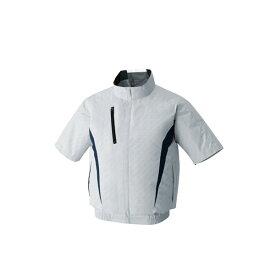 アタックベース:空調風神服裏チタン半袖ブルゾン ホワイトカモM 100 空調服 半袖 クール 猛暑 現場作業 服 熱中症 暑さ 対策 100