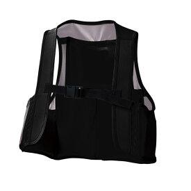 アタックベース:空調風神服ストレッチメッシュベスト ブラック3L 008