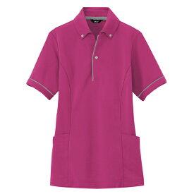 アイトス:サイドポケット半袖ポロシャツ(男女兼用) ローズ S 7668