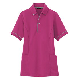 アイトス:サイドポケット半袖ポロシャツ(男女兼用) ローズ 5L 7668