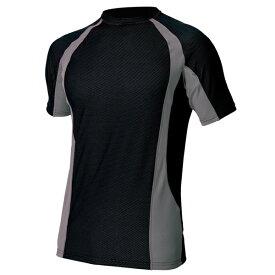 アイトス:コンプレスフィット半袖シャツ ブラック 3L 551035