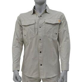アグロワークス:ライトNCストレッチシャツ ライトグレー M 7214002