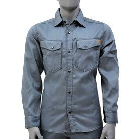 アグロワークス:TCライトシャツ シルバーグレー 3L 7214003