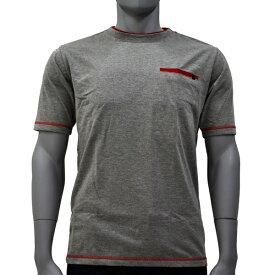 アグロワークス:配色アンチドロップTシャツ モクグレー M 7212016
