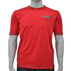 アグロワークス:配色アンチドロップTシャツ レッド L 7212016