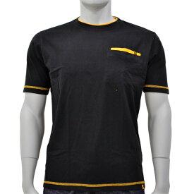アグロワークス:配色アンチドロップTシャツ ブラック S 7212016