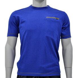 アグロワークス:配色アンチドロップTシャツ ブルー S 7212016