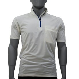 アグロワークス:ポリエステルジャージジップシャツ ホワイト LL 7112007