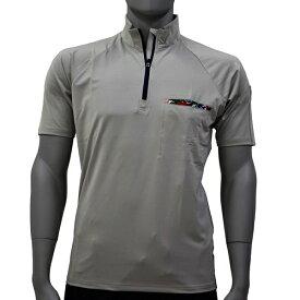 アグロワークス:ポリエステルジャージジップシャツ ライトグレー L 7112007