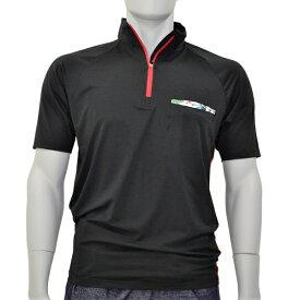アグロワークス:ポリエステルジャージジップシャツ ブラック LL 7112007