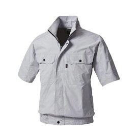アグロワークス:空冷服 半袖ブルゾン シルバーグレー 3L KM99201