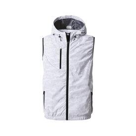 アグロワークス:空冷服 フードベスト カモフラホワイト LL KM92204