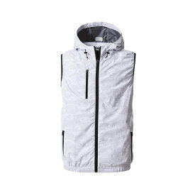 アグロワークス:空冷服 フードベスト カモフラホワイト 3L KM92204