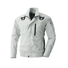 アグロワークス:空冷服 フルハーネス対応長袖ブルゾン シルバーグレー L KM99205
