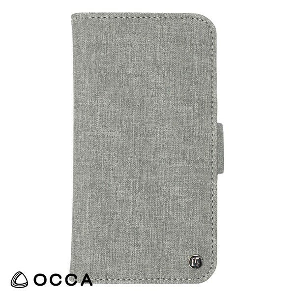 OCCA(オッカ):手帳型ケース Coach flip case for iPhone X Grey BLOCCS2004-GY