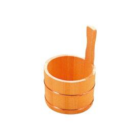 さわら 片手 湯桶 銅タガ D-33-03 3481000