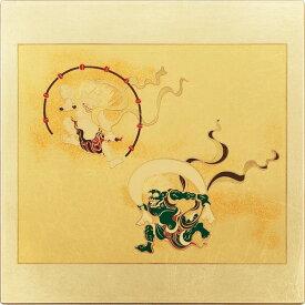 まえじゅう漆器:マウスパッド風神雷神 ゴールド 2V-719