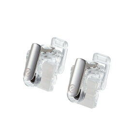ELECOM(エレコム):スマホ用ゲームアクセサリ フィンガーボタン 分離型 2ボタン スマホクリーナー付 クリア P-GMFS2B01CR