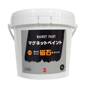 ターナー色彩:マグネットペイント 1.5L MG150001 壁 DIY 磁石 リフォーム