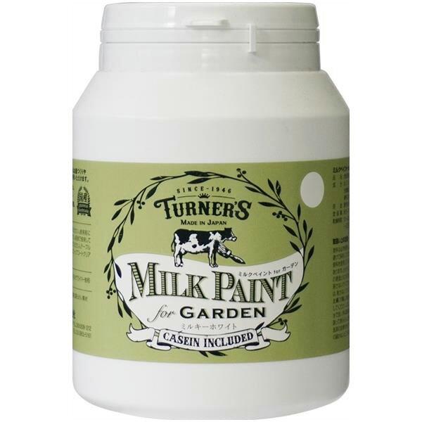 ターナー色彩:ミルクペイントforガーデン ミルキーホワイト 450mL